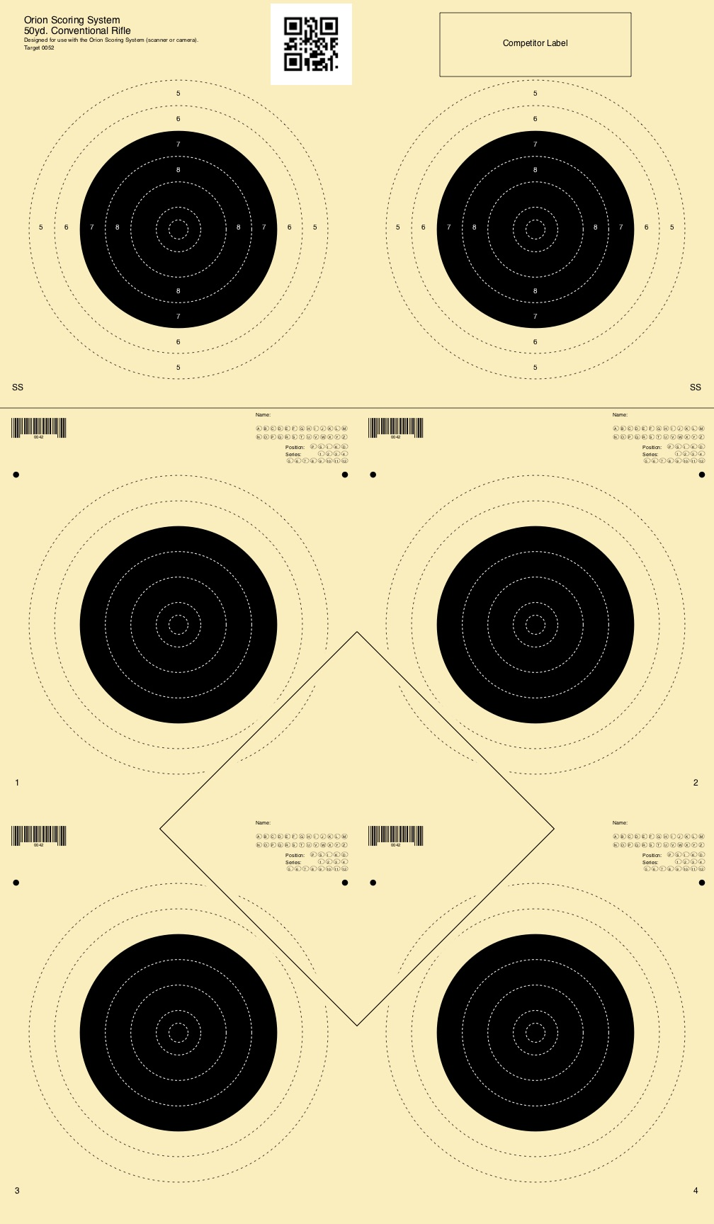 image about Nra B-8 Target Printable referred to as Aim and Add-ons